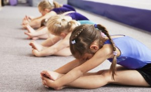 Stretching gymnasts